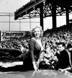 Marilyn at Ebbets Field Stadium, Brooklyn, New York, May 12th 1957