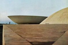 Oscar Niemeyer, National Congress Building, Brasília, 1966