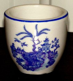 Vintage Hall China Blue Willow Egg Cup