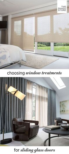 Super Sliding Glass Door Window Treatments Roller Blinds 58+ Ideas