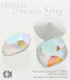 Exclusively from E.H. Ashley - Swarovski LacquerPRO Effect Crystal Powder Grey with AB Custom Coating on article #1088 at www.ehashley.com #Swarovski #bling #crystals #lacquerpro #grey
