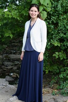 Modest Mom - navy fashion outfit clothing