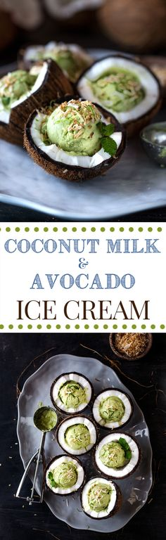 Coconut Milk and Avocado Ice Cream: A Vegetarian ice cream recipe made with coconut milk, avocados, and heavy cream. Incredibly smooth and creamy.