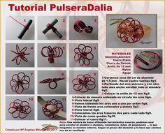 ! ! ABALORIOS Y OTRAS JOYAS ! !: Tutorial pulsera con alambre magico