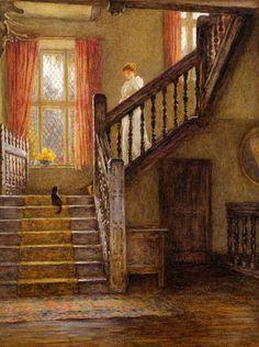 Helen Allingham (1848-1926) | Das Treppenhaus | um 1890