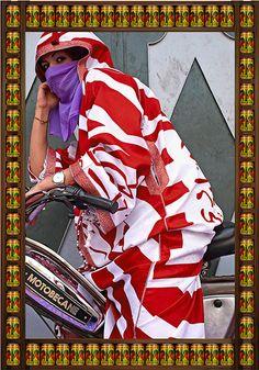 Motorbike girls of Morocco. Credit: Hassan Hajjaj/Taymour Grahne Gallery, NY Brown Eyes