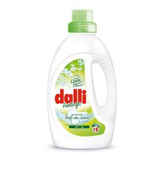 Dalli Fellings Vollwaschmittel 2017. Available in 1.35 l bottle for approx. 18 loads of laundry. Dalli Feelings Vollwaschmittel (English: heavy-duty detergent) combines brilliantly clean results and a luxurious, uplifting scent. Impressive performance and care For radiant cleanliness of your laundry even after frequent laundering Active wash cycle starting at 20 °C, which saves energy and helps to protect the environment