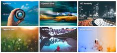 #Fotografía #aprendizaje #Internet Para aprender fotografía interactivamente: exposición, profundidad de campo, ISO y más