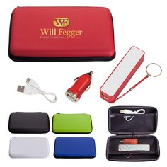 86675bbe4f Deluxe Travel Kit - promotional adapter charger personalized with your  custom imprint or logo.