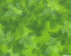 Fusions Garden - Autumn Harmony - Shamrock Green. From eQuilter.com