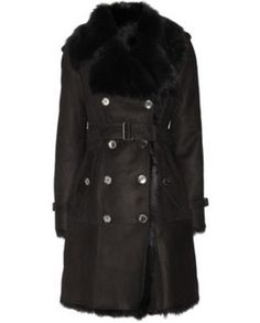 BURBERRY LONDON • Shearling trench coat