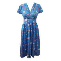 70s does 40s vintage floral tea dress - Love Miss Daisy Vintage
