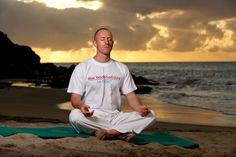 The beginning of a relaxing yoga session on The BodyHoliday's Cariblue beach at sunset...stretch & breathe