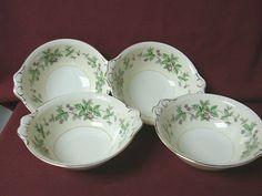 #Homer laughlin China Dinnerware Eggshell Georgian Greenbriar #G3499 4 Lugged cereal bowl $79.99