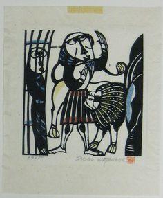Daniel in the Lions Den by Sadao Watanabe 1965