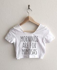Mornings Are For Mimosas Fitted Crop Top