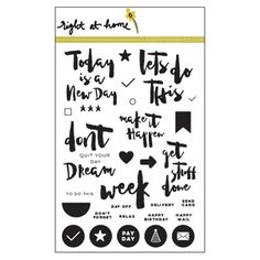 Right At Home GET STUFF DONE Clear Stamp GSDFEB16