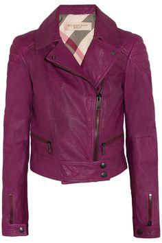 Burberry Brit|Leather biker jacket |NET-A-PORTER.COM