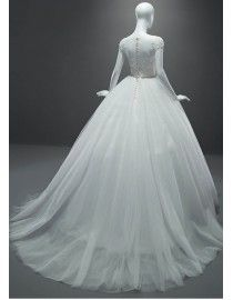 Gorgeous illusion cap sleeves lace appliques sequins beaded ball gown sweeping wedding dress with swarovski beaded waistline 5W-010