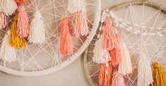 Liked on Pinterest: DIY: giant dream catchers.