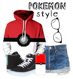 """Pokemon   :)"" by aliciastylinson ❤ liked on Polyvore featuring GlassesUSA, Vans and Casetify"