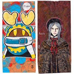 20180402 #sketchlunchbag for my kids. #art #drawing #Anadart #Kirby  #Magolor #Bloodborne #PlainDoll #lunchbagart #sketch #art #doodle  #Anad #VideoGame #Nintendo #PS4 #Paint #Acrylic