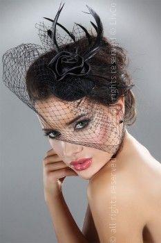 LADIES BLACK FASCINATOR HEAD PIECE MINI TOP HAT HAIR WEDDING RACES FUNERAL  VEIL  fe372f8eb8c