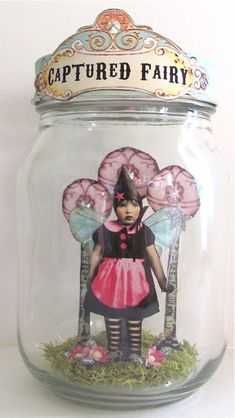 Captured Fairy Jar by Debrina Pratt @ earthangelsstudios