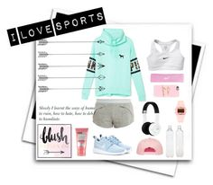 I Love Sports by stylist234 on Polyvore featuring Victoria's Secret PINK, adidas, NIKE, Nixon, Casetify, Soap & Glory, Seletti and Delfina