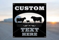 Proud Cattle Family Custom Metal Farm and Ranch Sign