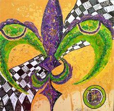 Captain of Carnival : Krewe Kustom for GCCA-Fluer De Lis ART-Mardi Gras-Carnival-Mississippi Artist Erika Johnson-www.erikajohnsoncreations.com-