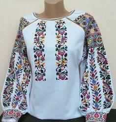 #вишиванка, жіноча вишивана блузка на домотканому полотні (Арт. 01746
