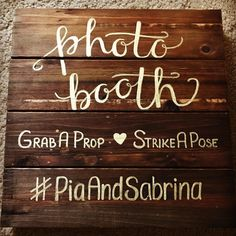 Fun photo booth signage for an upcoming wedding. Rose Wedding, Wedding Day, Cabbage Roses, Wedding Signs, Photo Booth, Signage, Wedding Decorations, Weddings, Fun