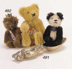 A Schuco miniature Berlin teddy bear