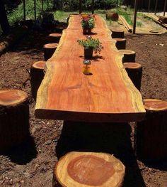 19 cool DIY ideas for roundwood and logs in your garden .- 19 coole DIY-Ideen, um Rundholz und Baustämme in Eurem Garten kreativ zu verwenden 19 cool DIY ideas to creatively use logs and logs in your garden