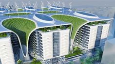 Green architecture in Cairo.The planned Gate Residence will feature a host of energy-saving and generating technologie...