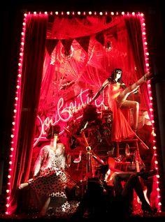 Christian Louboutin at Bergdorf Goodman windows, New York visual merchandising
