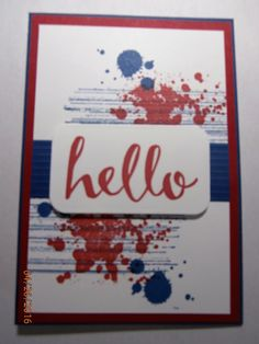 Gorgeous Grunge & Hello Everyone stamps CASEd from Dayanna Donng Stampin Up