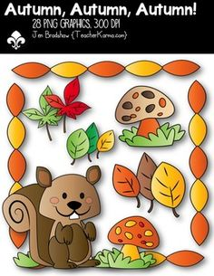 Love this squirrel clipart!  Happy Fall y'all!  You will LOVE these ** 28 **  graphics that are so much FUN! They are absolutely perfect for adding to parent newsletters, literacy and writing stations, activities, printables and student worksheets, class invitations, etc.