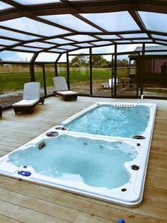 Hydropool Swim Spas Photo Gallery Backyard Pool Designs, Small Backyard Pools, Swimming Pools Backyard, Indoor Pools, Pool Spa, Backyard Projects, Backyard Ideas, Swim Spa Prices, Piscina Spa