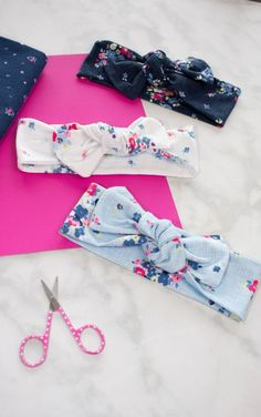 Top Knot Bow Head Wrap Sewing Tutorial - Sweet Red Poppy