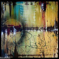 Rain - Original Abstract HUGE Modern Contemporary Art Painting by Fidostudio