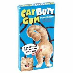 Blue Q Gum Cat Butts