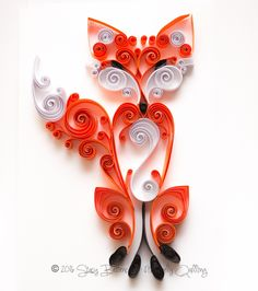 Quilled Scrollwork Fox