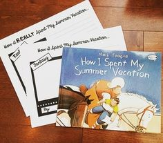 """Use this fun writing activity after reading """"How I Spent My Summer Vacation"""" by…"""