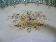"""Hand PaintedChina in Linden pattern- 44 piece se t.This china was made in Japan and the set contains 7-Bread & Butter Plates 6-5/8"""".   eBay!"""