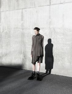 Rick Owens.  Draping and coolness of color.
