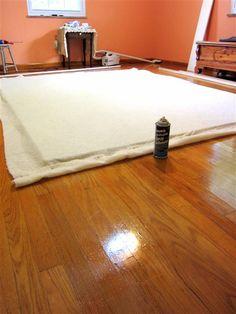 TUTORIAL FOR design wall - foam board, felt, wood frame