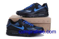Comprar barato hombre Nike Air Max Zapatillas (color:negro,azul) en linea en Espana. Air Max 90, Nike Air Max, Zapatillas Nike Air, Color Negra, Blue, Black, Nike Men, Air Max