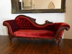 Craigslist. I have a couple of pieces of Victorian style furniture. These are reproductions and are very nice. Fainting Couch in red velvet (86 wide 27 deep 38 high) $1965.00 Angle table with glass top...3...